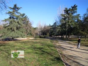 El parque de San Blas es uno de los cuatro que visitamos en este barrio madrileño.