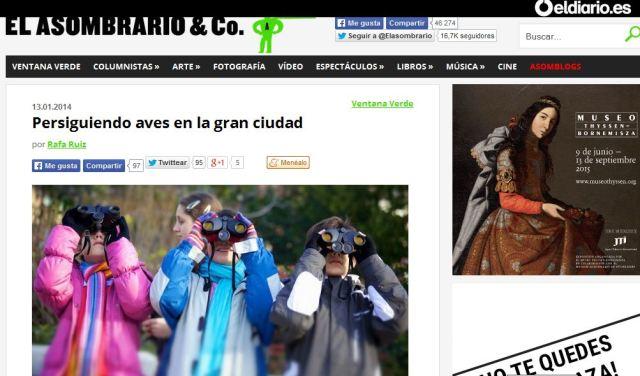 Revista Digital El Asombrario & Co.: Persiguiendo aves en la gran ciudad