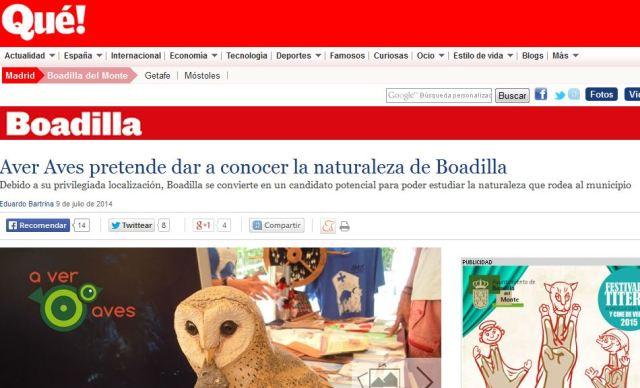 Periódico Digital Qué!: Aver Aves pretende dar a conocer la naturaleza de Boadilla