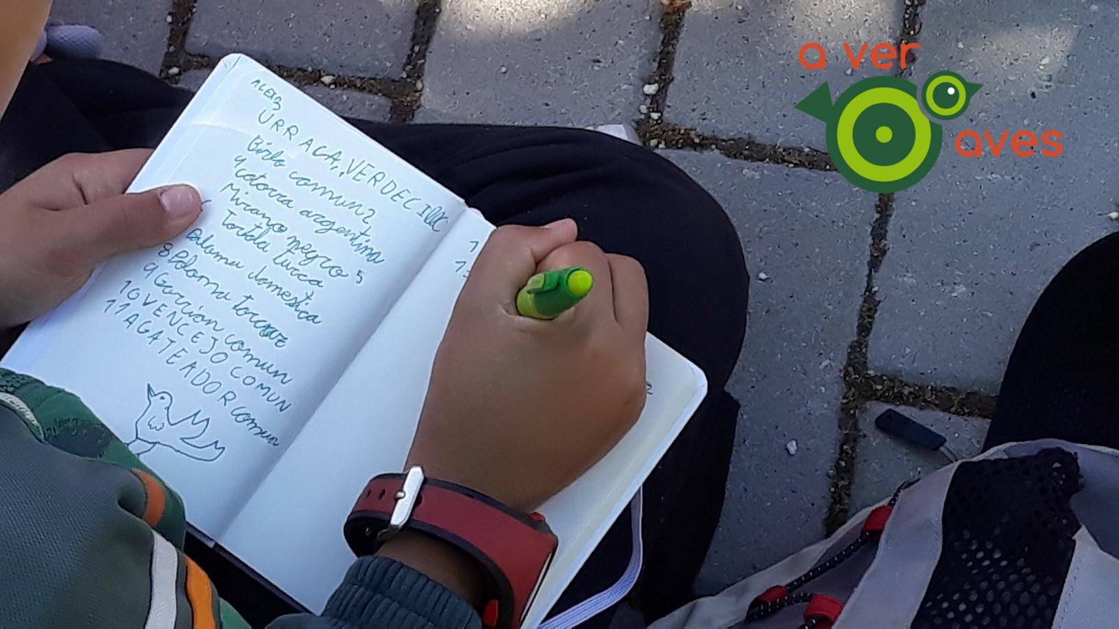 Cuaderno de campo Aver Aves